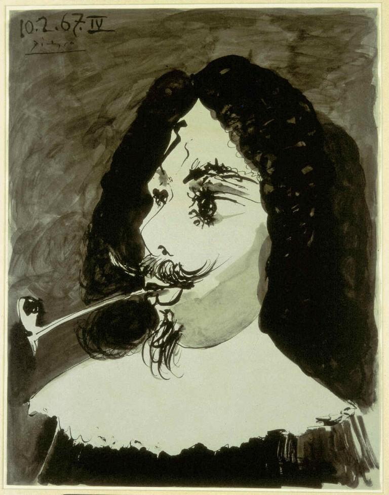 'Tête de mousquetaire a la pipe', by Pablo Picasso