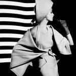 Dorothy + white light stripes, Paris 1962 ©William Klein