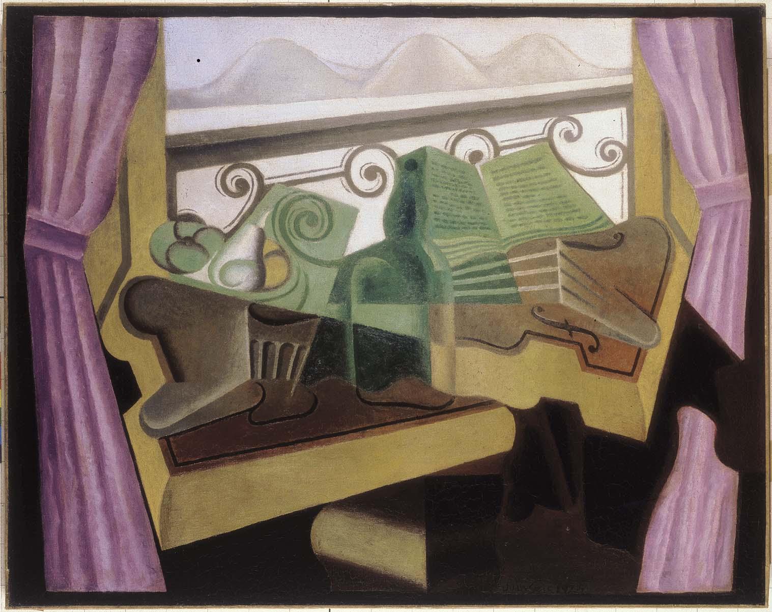 La fenêtre aux collines; Gris, Juan, 1923 ©ColecciónTelefónica